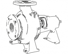 Single-stage process pump