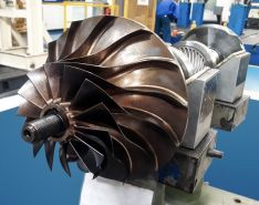 The complex impeller geometry was recreated using digital modeling.