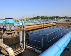 wastewater treatment pumps and pipes