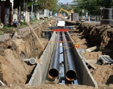 sewer pipe infrastructure construction