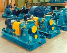 Boiler Circulating Pumps, Auxiliary Cooling Water Pumps & Mounting Base for a Sealless Rotodynamic Pump